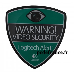 Autocollant logitech alert security caméra - Lot de 2